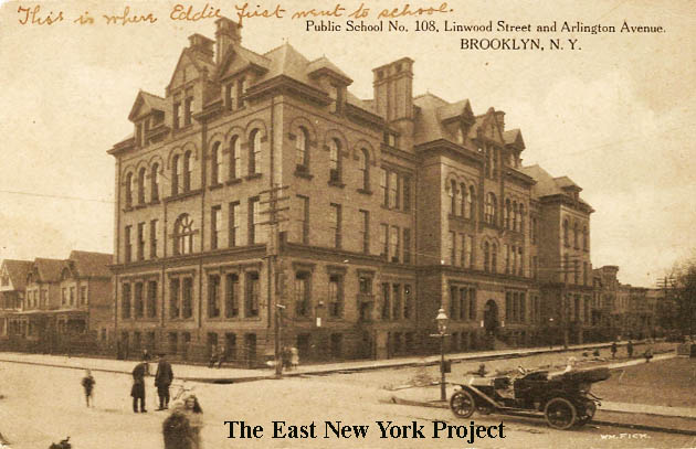Public School 108,Linwood and Arlington Avenue Maker: Wm. Fick Dated: 1908  Status: Own (RG) Early 108 image, this same image was used in a P. Miller  ...