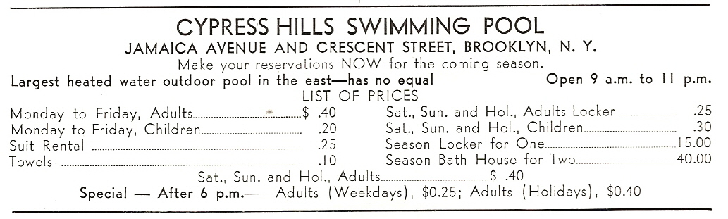 Swimming pool lane lines background Competition The Rates Charged By The Pool Can Be See In This Ad From The 1935 Lincoln Log Cypress Pool